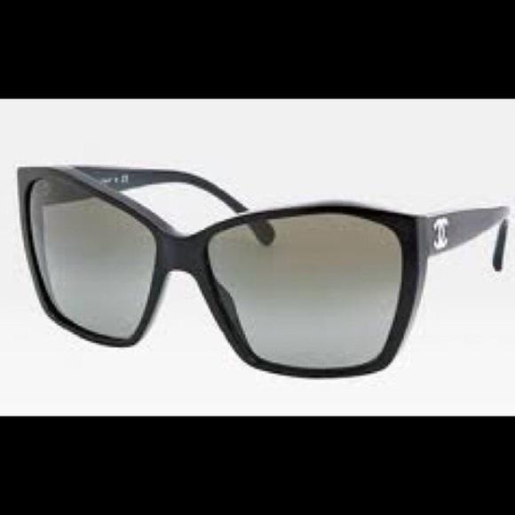 6040a4edbdf CHANEL Accessories - Chanel CC cat-eye glitter 5203 sunglasses black